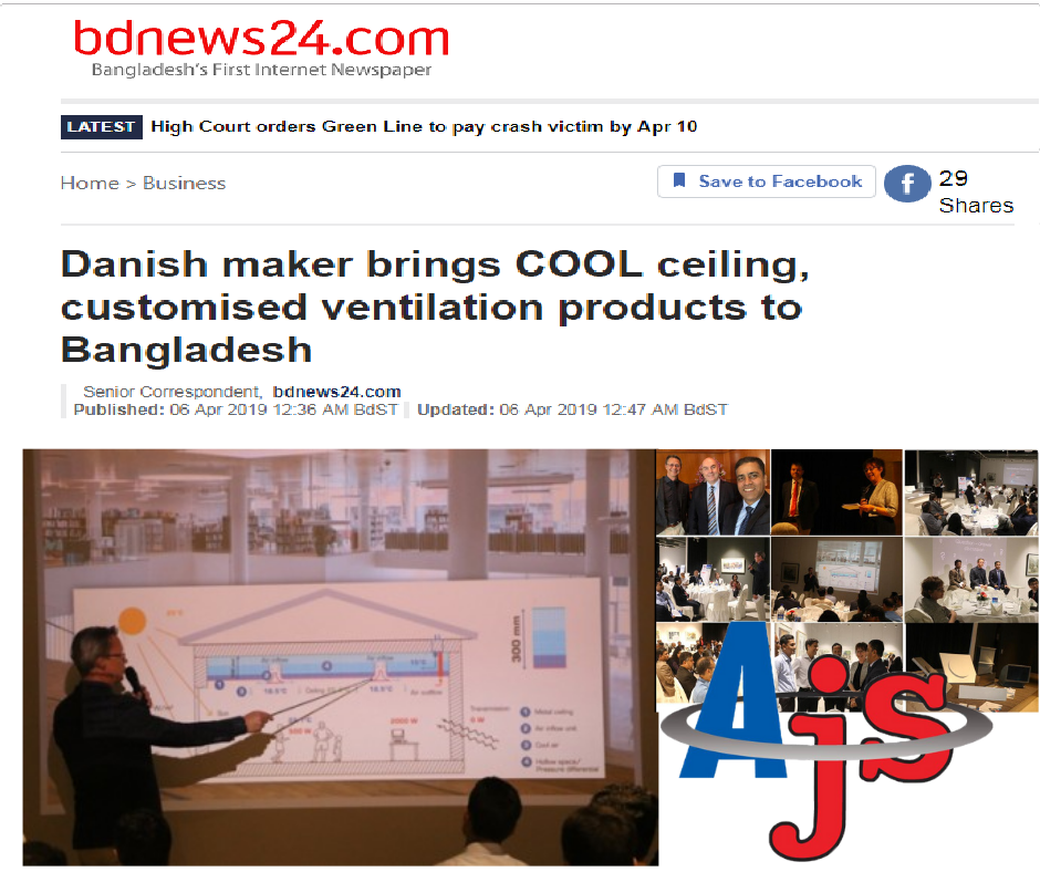 LAUNCHING CEREMONY OF COOL CEILING JOINT VENTURE ABG JS VENTILATION LTD